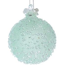 Weihnachtskugel Perlen mintgrün