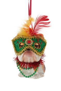 Bulldogge mit Maske