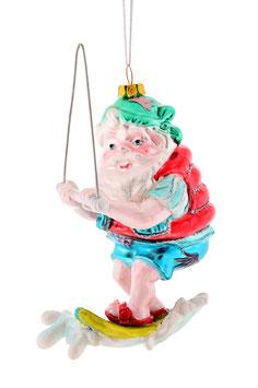 Hänger Santa auf Wasserski