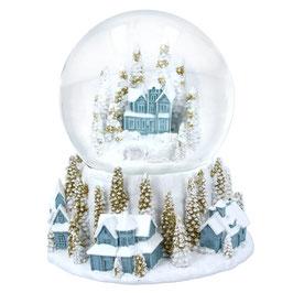 Schneekugel mit Dorf