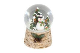 Schneekugel Schneemann
