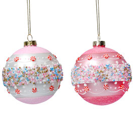 Weihnachtskugel rosa/pink