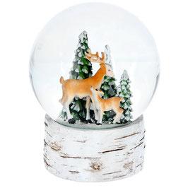 Schneekugel Rentiere