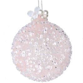 Weihnachtskugel Perlen rosa