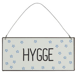 "Metallschild ""HYGGE"""