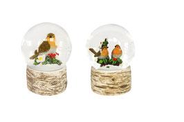 Schneekugel Vögel