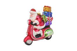 Baumhänger Santa auf Roller