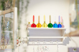 Kristallglas-Kerzenhalter