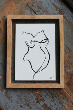 BABYBUIK ART PRINT GLAS LIJST HOUT