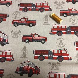 Deko Feuerwehr, leinen-rot