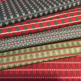 BW-Stoff Weihnachten Muster