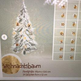 BW-Panel Weihnachtsbaum Kalender lillestoff