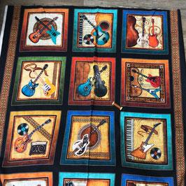 Patchwork Panel Gitarrenbilder