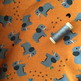 Jersey Elefant orange-grau
