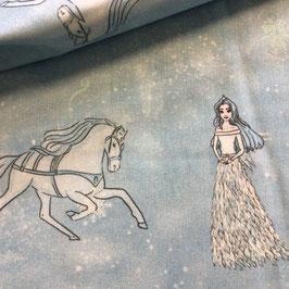 BW-Stoff Katia Eiskönigin mit Pferd