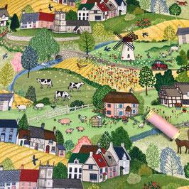 PW-Stoff Village life scenic