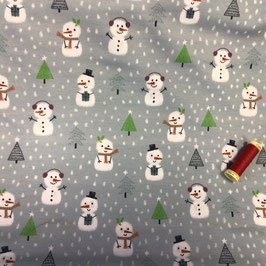 French Terry lillestoff Little Snowmans Christmas