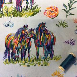 PW-Stoff Free Spirit Calico Horses