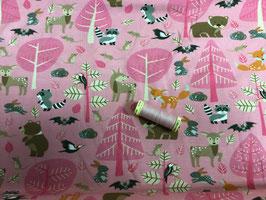 Jersey Waldtiere, rosa-bunt