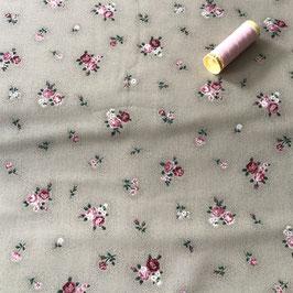 PW-Stoff Kleine Rosen beige