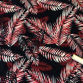 Jersey Palmenwedel rot-schwarz