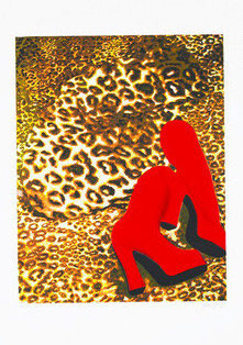 Gill - Cheetah Nude with Red Boots