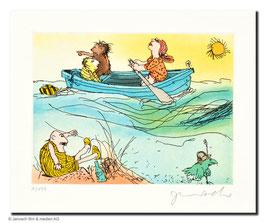 Janosch: Es schwankt das Meer, die Sonne sinkt, wobei Herr Wondrak nichts mehr trinkt