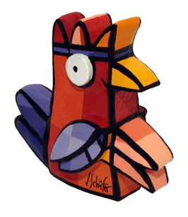 Seltsamer Vogel - Rot