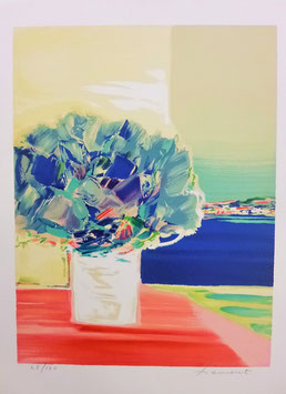 Claude Hemeret - Floralies bleues