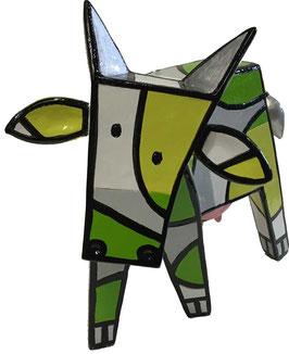 Glückliche Kuh - klein - Grün