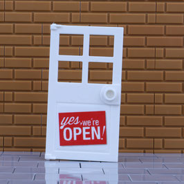 "Tür ""We are open"""