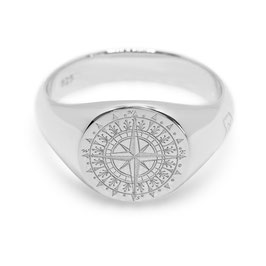 Signet Ring Compass Rose
