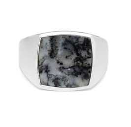Signet Ring Blue Marble