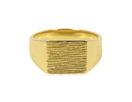 Signet Ring Raw Gold