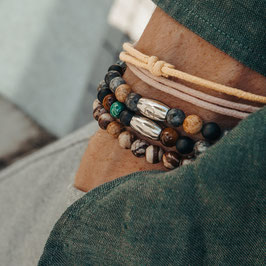 Classic Camel, Classic Forest, Classic Brown & Grey + Rope Bracelets