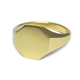Signet Ring Gold Octagonal
