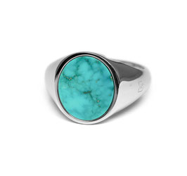 Signet Ring Turquoise Oval