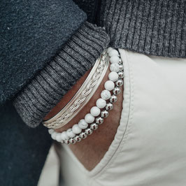 Classic Snow, Silver & Vintage Cuff