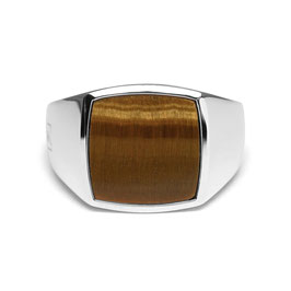 Signet Ring Tiger Eye