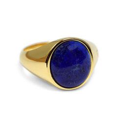 Signet Ring Gold Blue