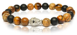 Buddha | black & brown silver