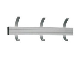 Wandgarderobe Typ 010 Stahlteile duplexiert Oberfläche anthrazit perlgrimm, Aluminiumteile farblos eloxiert