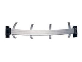 Wandgarderobe Typ 012, halbrunde Form nach innen, Stahlteile duplexiert oberfläche anthrazit perlgrimm, Aluminiumteile farblos eloxiert