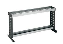 Schirmständer Typ 061, Stahlteile duplexiert Oberfläche anthrazit perlgrimm, Aluminiumteile farblos eloxiert