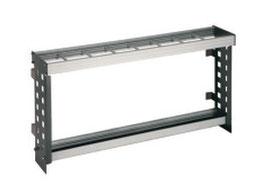 Wandschirmhalter Typ 060, Stahlteile duplexiert Oberfläche anthrazit perlgrimm, Aluminiumteile farblos eloxiert