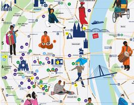 Der interkulturelle Stadtplan Köln 2015 -  Schwerpunkt ethnische Küche (1 Seite)