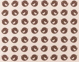 100% Biobaumwolle – Brown Bird – 0,5 Meter
