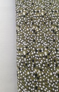 Viskosejersey - Grün mit Print