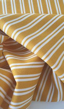 Viskose/Leinen Mix - Gelb Streifen