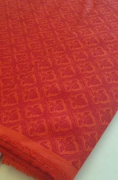 Baumwollstoff - Orange / Rot